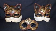 Как сделать маску кошки для маскарада своими руками