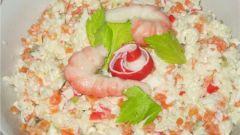 Какой салат можно сделать с рисом