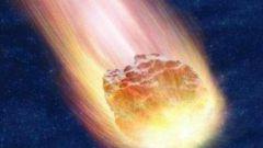 С какой скоростью метеорит падает на землю