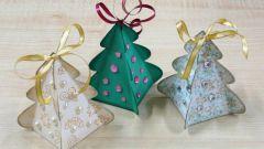 Как сделать елочку из картона и цветной бумаги
