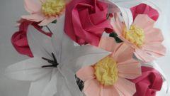 Цветки из бумаги своими руками: создаем вечный букет