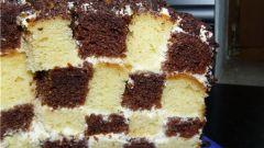 Готовим шахматный торт