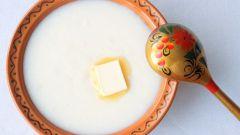 Как кормить грудничка манной кашей