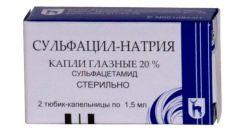 Сульфацил натрия: инструкция по применению