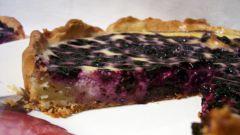 Финский пирог с голубикой