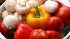 Овощи, маринованные с шампиньонами