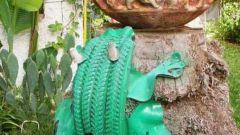 Поделки из шин: как сделать лягушку