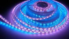 Как наклеить светодиодную ленту