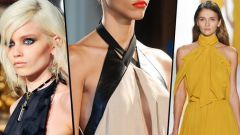 How to sew a blouse with a halter neckline
