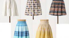С чем носить юбку солнце-клеш