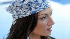 Как завязывать платки на голове летом