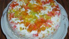 Как приготовить торт «Самоцветы на снегу»