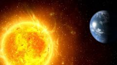 As the Earth rotates around the Sun