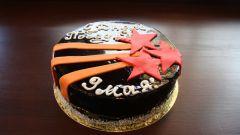 Как украсить торт на 9 мая