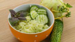 Готовим салат из свежих огурцов