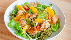 Готовим салат с курицей и апельсинами