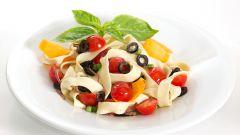 Рецепт приготовления итальянского салата с макаронами