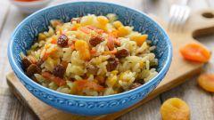 Рецепты вегетарианской кухни: плов с сухофруктами
