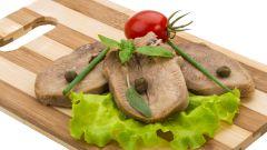 Этапы приготовления свиного языка
