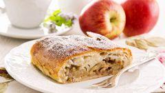 Домашняя выпечка с яблоками. Рецепт штруделя