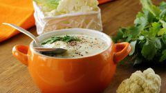 Легкий полезный суп-крем из цветной капусты