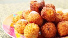 Рецепт жареных творожных шариков