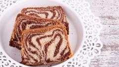 Рецепт мраморного кекса с какао