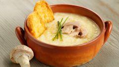 Рецепт пикантного супа с сыром и шампиньонами