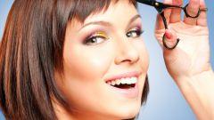 Как правильно подстричь косую челку самостоятельно