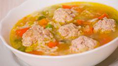 Как приготовить рисовый суп с фрикадельками