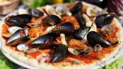 Пицца с морепродуктами - блюдо итальянской кухни