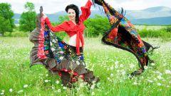 Поэтапный мастер класс по шитью яркой цыганской юбки