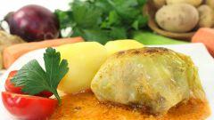 Рецепт: Постные голубцы с овощами