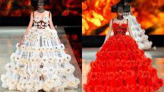 Как сделать платье из цветов