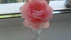 Как своими руками сделать розу из капрона