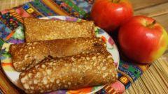 Как сделать вкусные и полезные блинчики с яблоками, овсяными хлопьями и корицей
