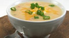 Как приготовить суп с копченым окорочком и сыром