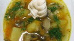 Как приготовить суп из шампиньонов с курицей