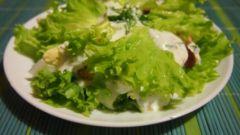 Легкий новогодний салат с креветками и яблоками