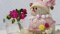 Как сделать снеговика из носков