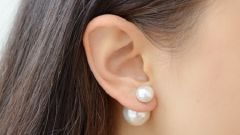 How to make earrings-ear-stud in the style of Dior