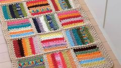 Knitted Mat with their hands – clearly and simply