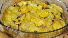 Картошка, тушенная с грибами в сметане