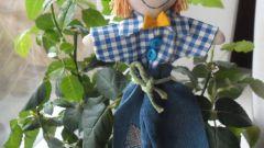 Как сделать пугало для цветочного горшка