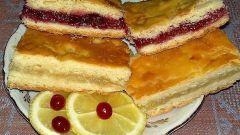 Универсальный рецепт лимонного и клюквенного пирога