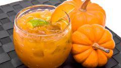 Готовим тыквенный напиток с апельсином