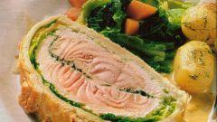 Готовим лосося в тесте
