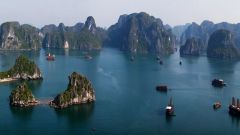 The trip to Vietnam. Halong