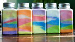 Как сделать бутылку с солью для декора