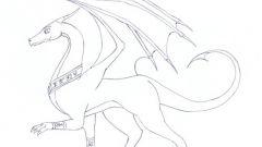 Как поэтапно нарисовать дракона
